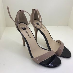 Black and Tan strappy heels